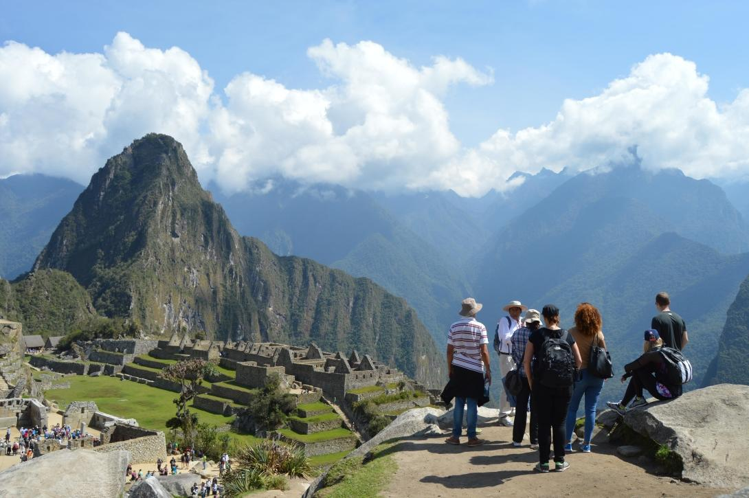 Projects Abroad volunteers and staff explore Machu Picchu during their spring break in Peru.